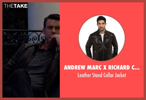 Andrew Marc X Richard Chai black jacket from Scandal seen with Jake Ballard (Scott Foley)