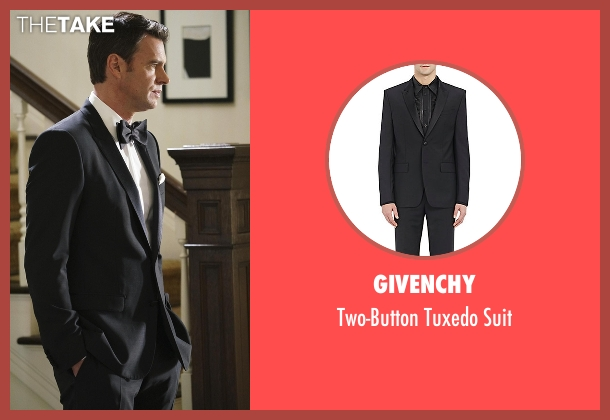Givenchy black suit from Scandal seen with Jake Ballard (Scott Foley)