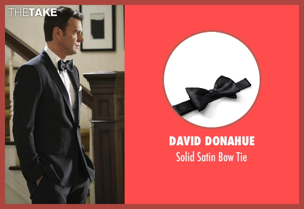 David Donahue black tie from Scandal seen with Jake Ballard (Scott Foley)