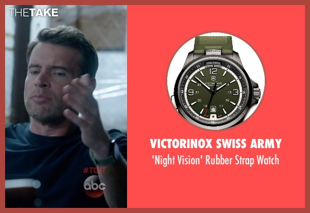 Victorinox Swiss Army black watch from Scandal seen with Jake Ballard (Scott Foley)