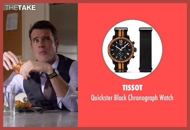 Tissot black watch from Scandal seen with Jake Ballard (Scott Foley)