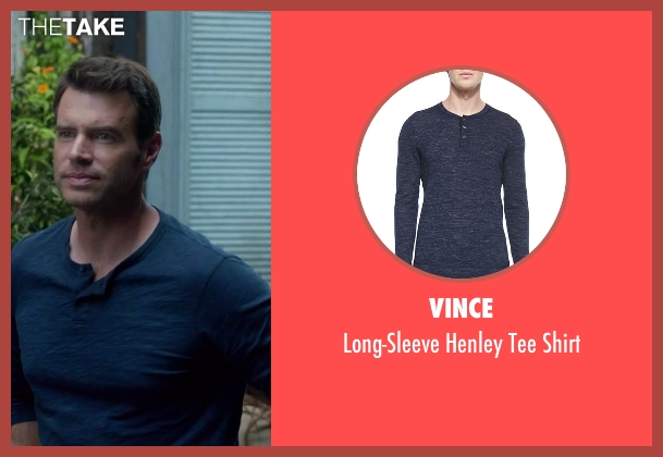 Vince blue shirt from Scandal seen with Jake Ballard (Scott Foley)