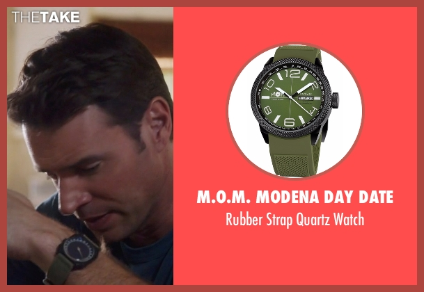 M.O.M. Modena Day Date green watch from Scandal seen with Jake Ballard (Scott Foley)