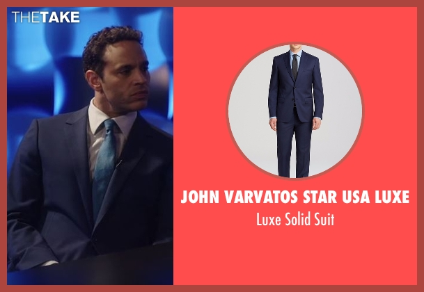John Varvatos Star USA Luxe blue suit from Notorious seen with Jake Gregorian (Daniel Sunjata)