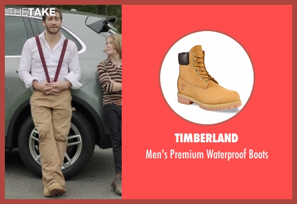 Timberland beige boots from Demolition seen with Jake Gyllenhaal (Davis Mitchell)