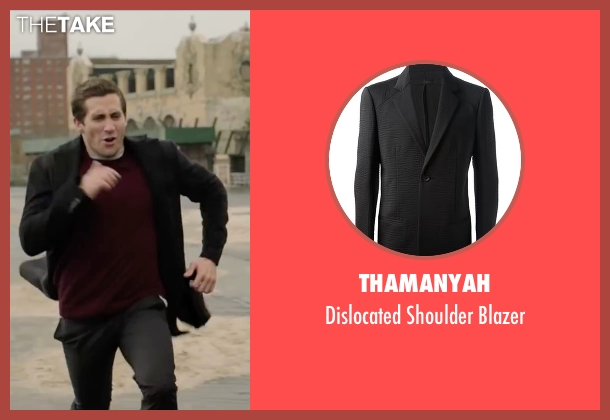 Thamanyah black blazer from Demolition seen with Jake Gyllenhaal (Davis Mitchell)