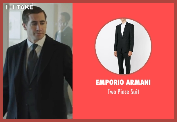 Emporio Armani black suit from Demolition seen with Jake Gyllenhaal (Davis Mitchell)