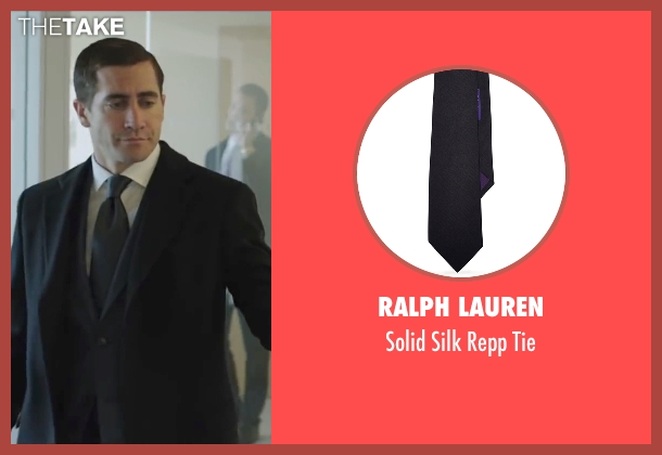 Ralph Lauren black tie from Demolition seen with Jake Gyllenhaal (Davis Mitchell)