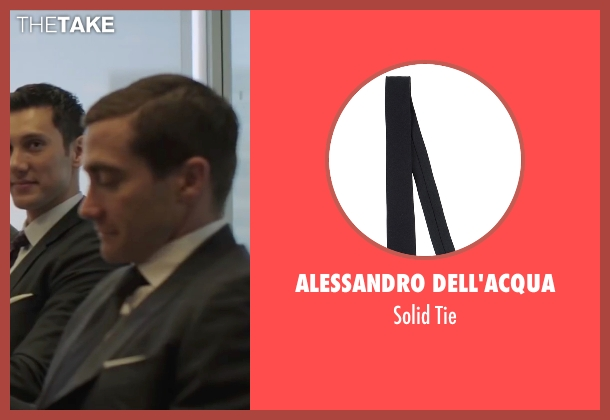 Alessandro Dell'acqua black tie from Demolition seen with Jake Gyllenhaal (Davis Mitchell)