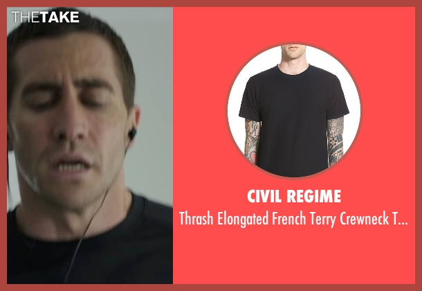 Civil Regime black t-shirt from Demolition seen with Jake Gyllenhaal (Davis Mitchell)