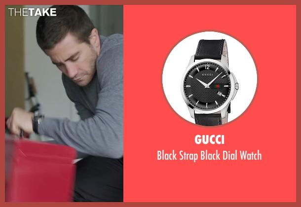 Gucci black watch from Demolition seen with Jake Gyllenhaal (Davis Mitchell)