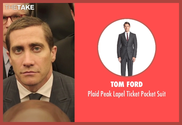 Tom Ford gray suit from Demolition seen with Jake Gyllenhaal (Davis Mitchell)