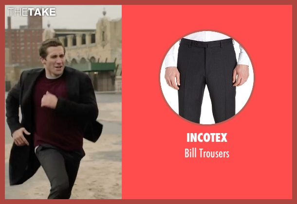 Incotex gray trousers from Demolition seen with Jake Gyllenhaal (Davis Mitchell)