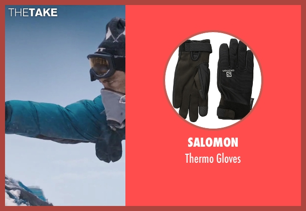 Salomon black gloves from Everest seen with Jake Gyllenhaal (Scott Fischer)