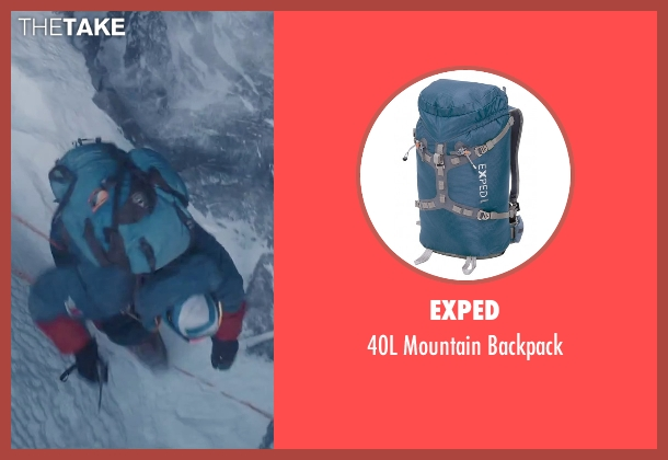 Exped blue backpack from Everest seen with Jake Gyllenhaal (Scott Fischer)