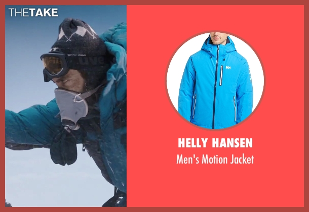 Helly Hansen blue jacket from Everest seen with Jake Gyllenhaal (Scott Fischer)