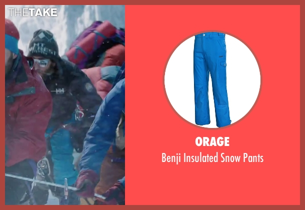 Orage blue pants from Everest seen with Jake Gyllenhaal (Scott Fischer)