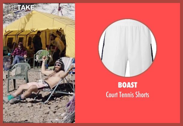 Boast white shorts from Everest seen with Jake Gyllenhaal (Scott Fischer)