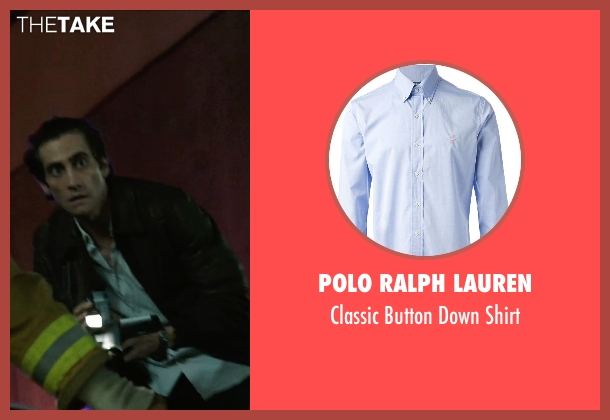 Polo Ralph Lauren blue shirt from Nightcrawler seen with Jake Gyllenhaal (Louis Bloom)