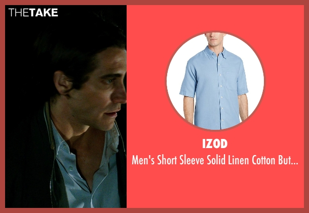 IZOD blue shirt from Nightcrawler seen with Jake Gyllenhaal (Louis Bloom)
