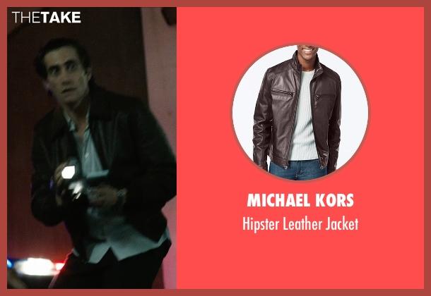 Michael Kors brown jacket from Nightcrawler seen with Jake Gyllenhaal (Louis Bloom)