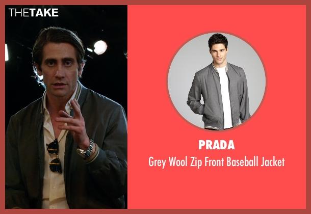 Prada gray jacket from Nightcrawler seen with Jake Gyllenhaal (Louis Bloom)