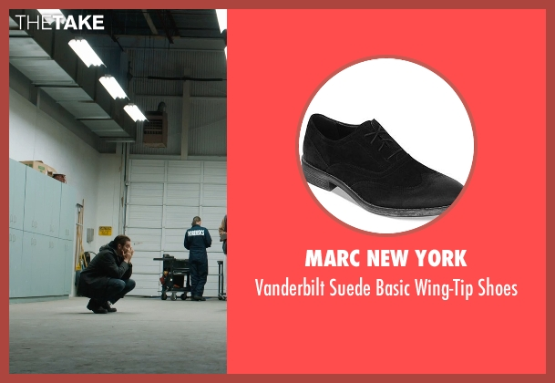 Marc New York black shoes from Prisoners seen with Jake Gyllenhaal (Detective Loki)