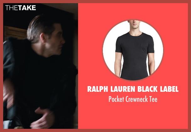 Ralph Lauren Black Label black tee from Prisoners seen with Jake Gyllenhaal (Detective Loki)