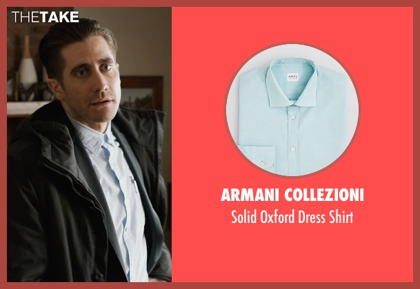 Armani Collezioni blue shirt from Prisoners seen with Jake Gyllenhaal (Detective Loki)