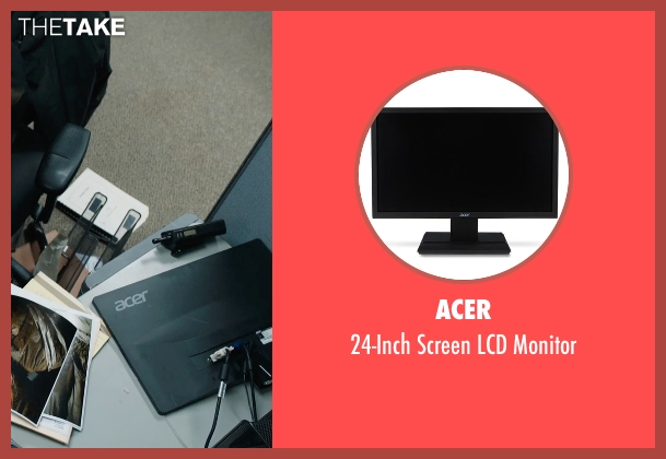 Acer monitor from Prisoners seen with Jake Gyllenhaal (Detective Loki)