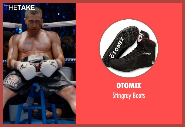 Otomix black boots from Southpaw seen with Jake Gyllenhaal (Billy Hope)