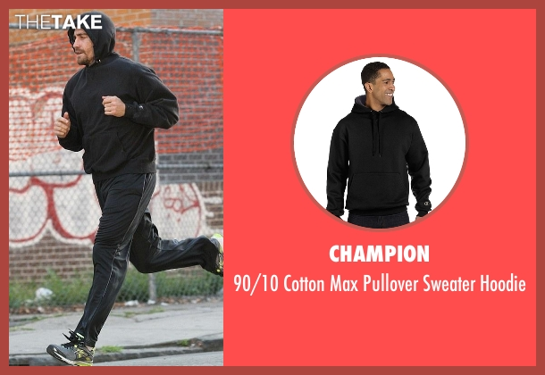 Champion black hoodie from Southpaw seen with Jake Gyllenhaal (Billy Hope)