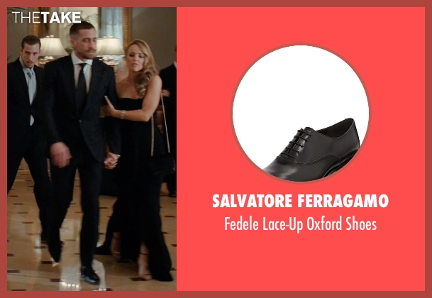 Salvatore Ferragamo black shoes from Southpaw seen with Jake Gyllenhaal (Billy Hope)