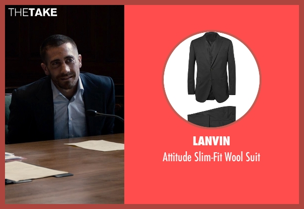 Lanvin black suit from Southpaw seen with Jake Gyllenhaal (Billy Hope)