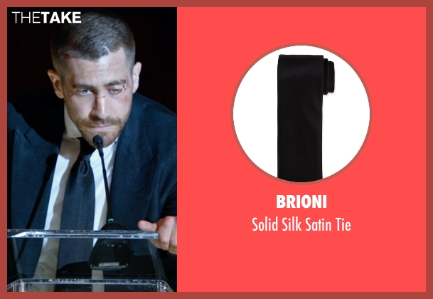 Brioni black tie from Southpaw seen with Jake Gyllenhaal (Billy Hope)