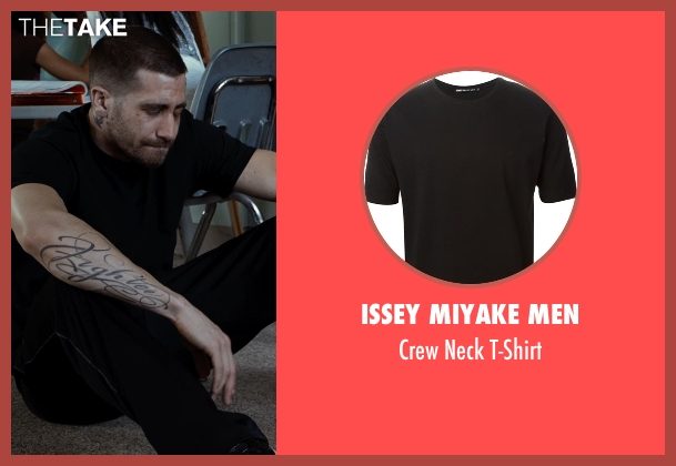 Issey Miyake Men black t-shirt from Southpaw seen with Jake Gyllenhaal (Billy Hope)