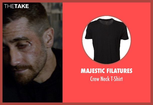 Majestic Filatures black t-shirt from Southpaw seen with Jake Gyllenhaal (Billy Hope)