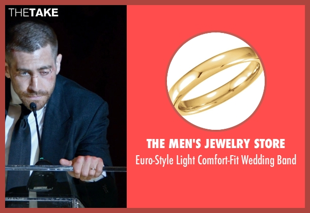 The Men's Jewelry Store gold band from Southpaw seen with Jake Gyllenhaal (Billy Hope)