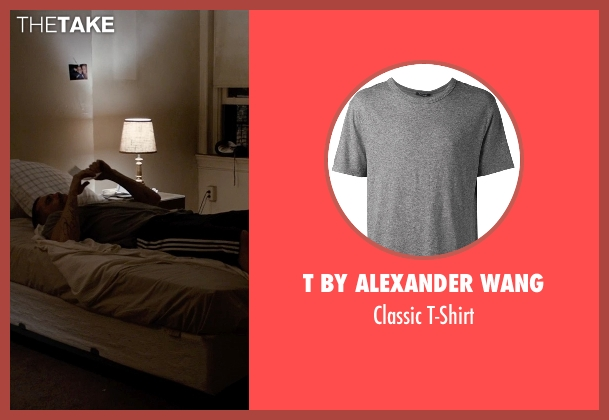 T by Alexander Wang gray t-shirt from Southpaw seen with Jake Gyllenhaal (Billy Hope)