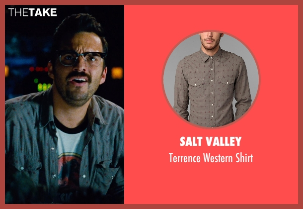 Salt Valley gray shirt from Jurassic World seen with Jake Johnson (Lowery)