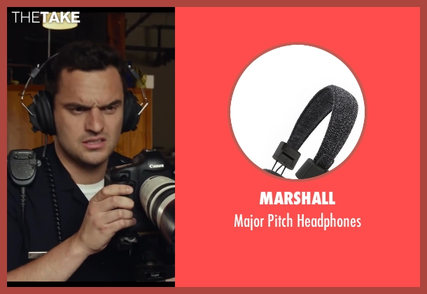 Marshall black headphones from Let's Be Cops seen with Jake Johnson (Ryan Davis)