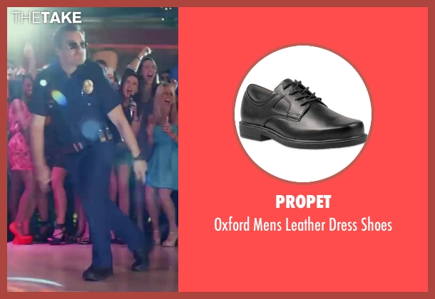 Propet black shoes from Let's Be Cops seen with Jake Johnson (Ryan Davis)