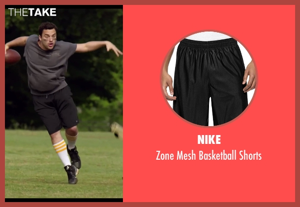 Nike black shorts from Let's Be Cops seen with Jake Johnson (Ryan Davis)