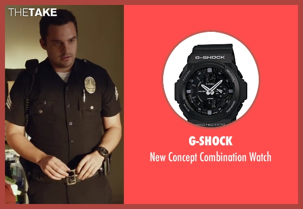 G-Shock black watch from Let's Be Cops seen with Jake Johnson (Ryan Davis)