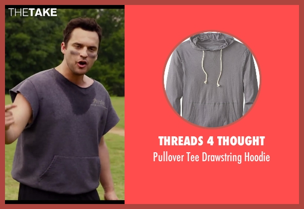 Threads 4 Thought gray hoodie from Let's Be Cops seen with Jake Johnson (Ryan Davis)