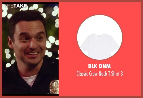 BLK DNM white 3 from Let's Be Cops seen with Jake Johnson (Ryan Davis)