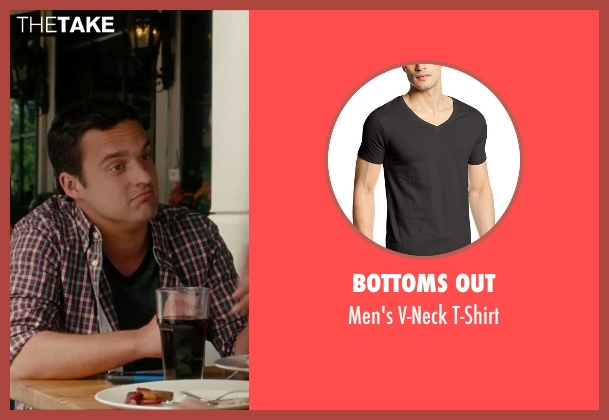 Bottoms Out black t-shirt from No Strings Attached seen with Jake Johnson (Eli)