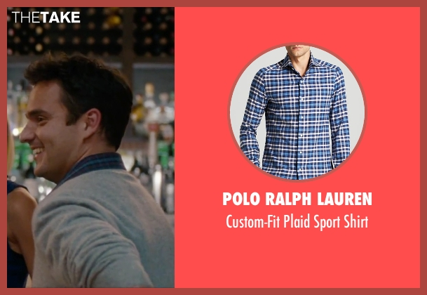 Polo Ralph Lauren blue shirt from No Strings Attached seen with Jake Johnson (Eli)