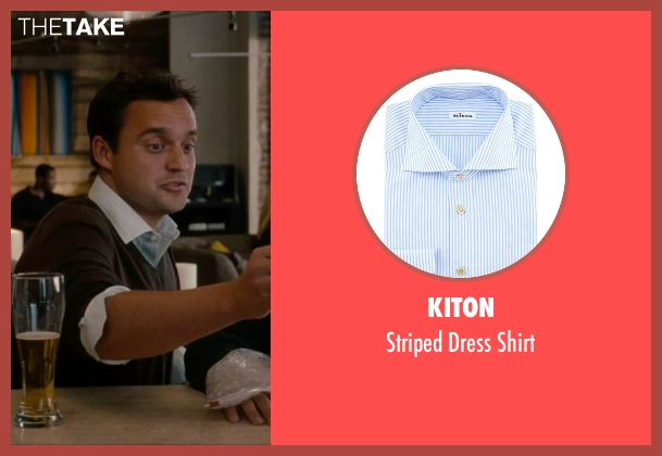 Kiton	 blue shirt from No Strings Attached seen with Jake Johnson (Eli)