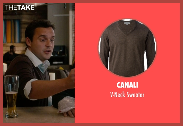 Canali brown sweater from No Strings Attached seen with Jake Johnson (Eli)